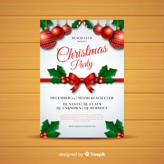 Cartel de fiesta navideña