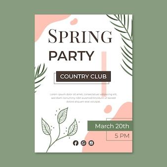 Cartel de fiesta de primavera