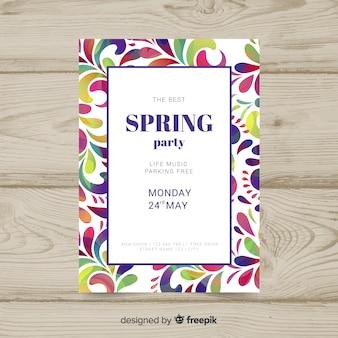 Cartel de fiesta primaveral