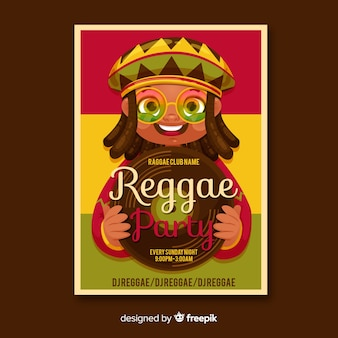 Cartel de fiesta reggae