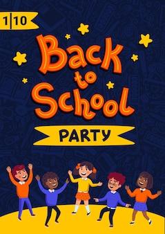 Cartel de fiesta de regreso a la escuela