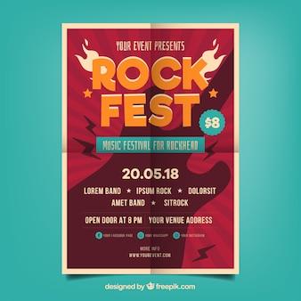 Cartel de fiesta de rock