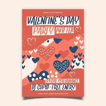 Cartel de fiesta de san valentín