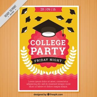 Cartel para una fiesta universitaria