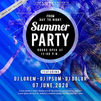Cartel fiesta de verano