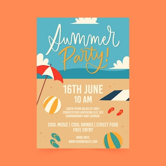 Cartel de fiesta de verano
