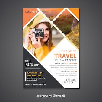 Cartel / folleto de viaje con foto
