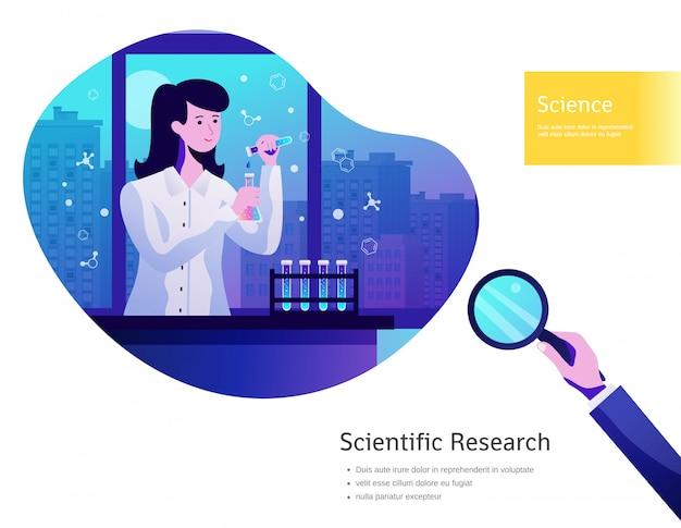 Cartel de fondo de ciencia