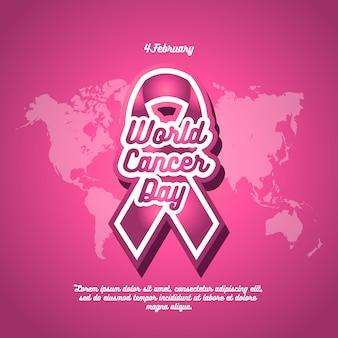 Cartel del fondo del día mundial del cáncer