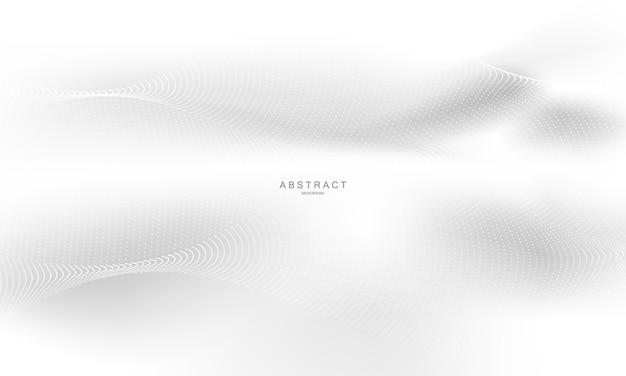 Cartel de fondo gris abstracto con ondas dinámicas. red de tecnología.