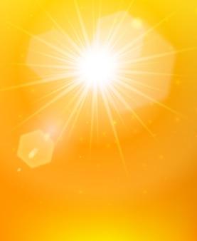 Cartel de fondo naranja sol
