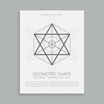 Cartel con forma de pentagrama