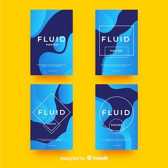 Cartel con formas fluidas