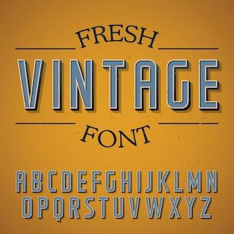Cartel de fuente vintage fresca