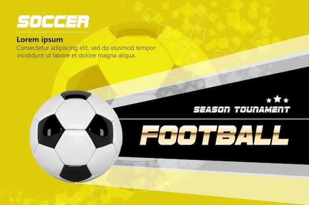 Cartel de fútbol para la promoción sport bar.
