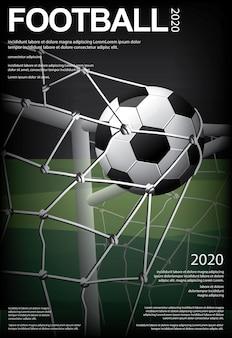 Cartel de fútbol soccer