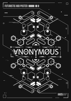 Cartel futurista de cyberpunk. plantilla de cartel futurista retro. diseño de música electrónica.