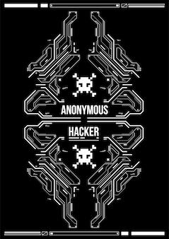 Cartel futurista de cyberpunk. plantilla de cartel futurista retro. plantilla de póster abstracto de tecnología.