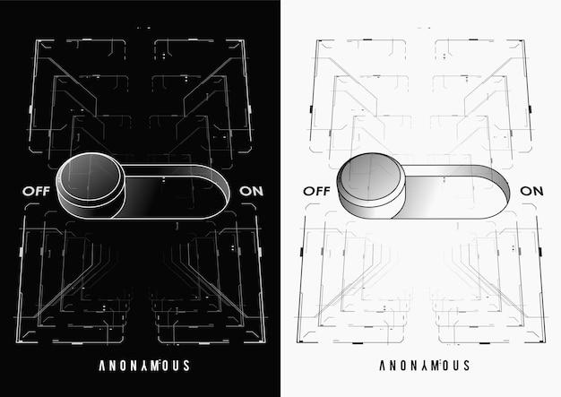 Cartel futurista cyberpunk