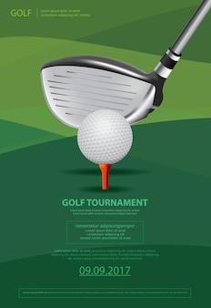 Cartel de golf campeonato ilustración vectorial