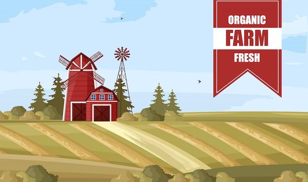 Cartel de granja orgánica
