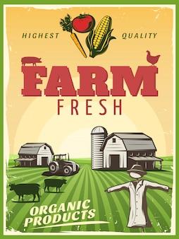 Cartel de la granja del rancho