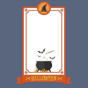 Cartel de halloween magia de bruja