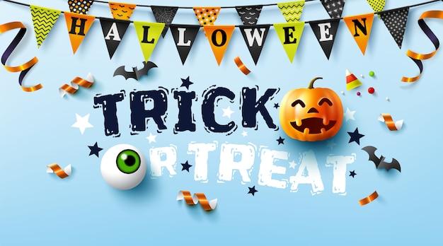 Cartel de halloween con texto