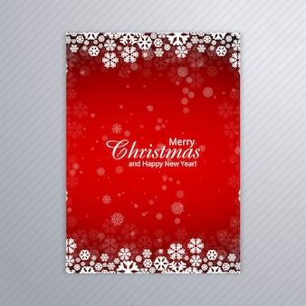 Cartel hermoso feliz fiesta de navidad