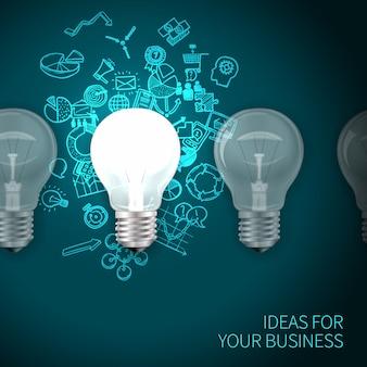 Cartel de idea de negocio