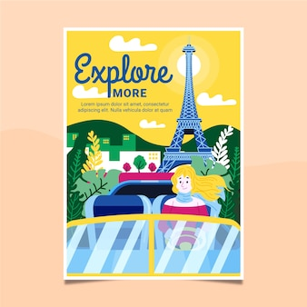 Cartel ilustrado de viaje