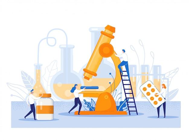 Cartel informativo de investigación de drogas de dibujos animados plana.