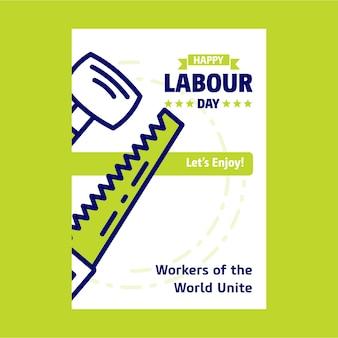 Cartel de la jornada laboral