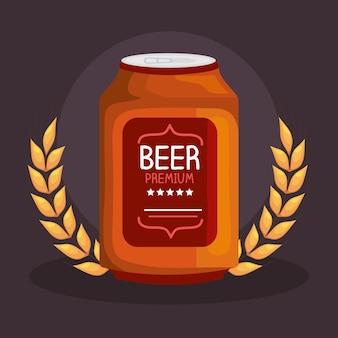 Cartel de lata de cerveza