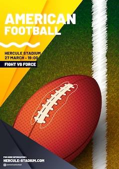 Cartel de la liga de fútbol americano