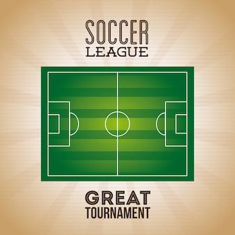 Cartel de la liga de fútbol