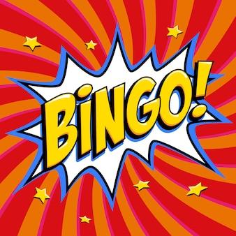 Cartel de lotería de bingo.