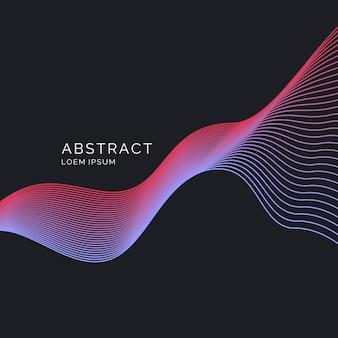 Cartel luminoso con ondas dinámicas. ilustración estilo minimalista