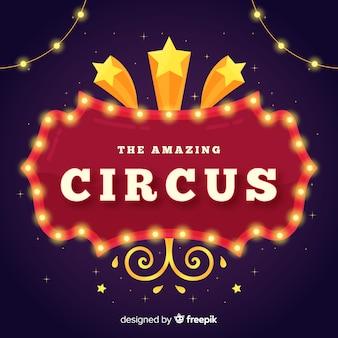 Cartel luminoso vintage de circo