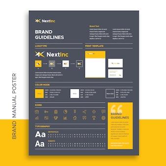 Cartel del manual de marca
