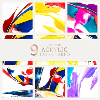 Cartel de marca con diseño abstracto vector