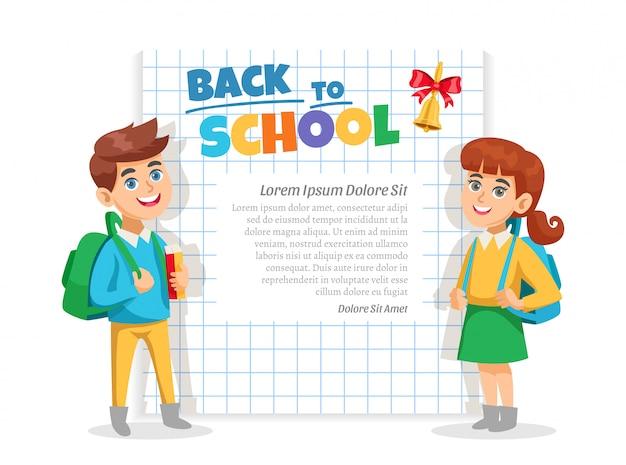 Cartel de marco de regreso a la escuela