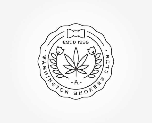 Cartel de marihuana medicinal o plantilla de etiqueta