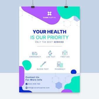 Cartel médico colorido abstracto