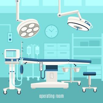 Cartel médico de la sala de operaciones