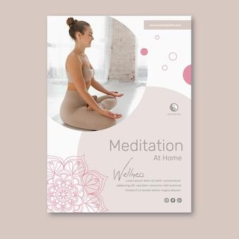 Cartel de meditación y atención plena.