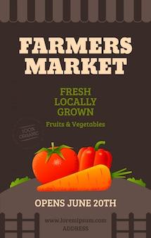 Cartel del mercado de agricultores