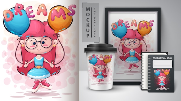 Cartel y merchandising de dreams girl