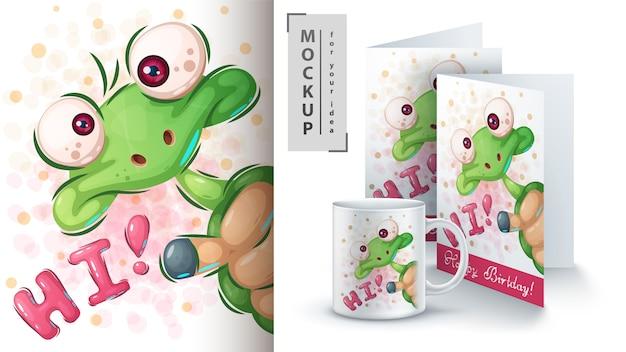 Cartel y merchandising de hola tortuga