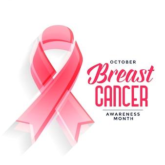 Cartel del mes de concientización sobre el cáncer de mama